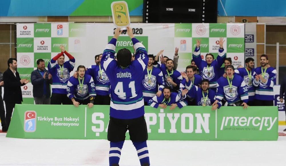 Buz Hokeyi Süper Lig'inde şampiyon Buz Beykoz